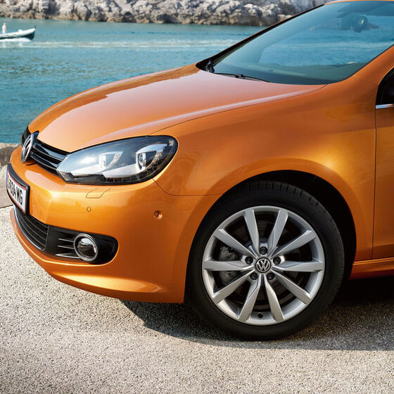 vw volkswagen golf cabriolet orange felgen raeder