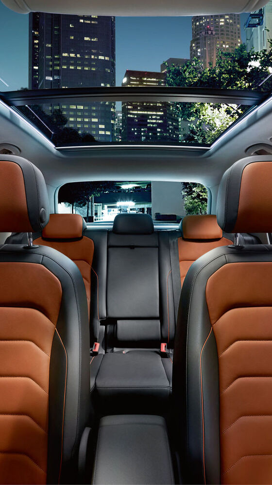 vw volkswagen tiguan innen interieur orange